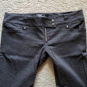 Lip Service Gray Pinstripe Pant - size L